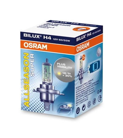 Osram halogenová žárovka, Osram Allseason, H4, P43t, 12V, 60/55W, 64193ALS
