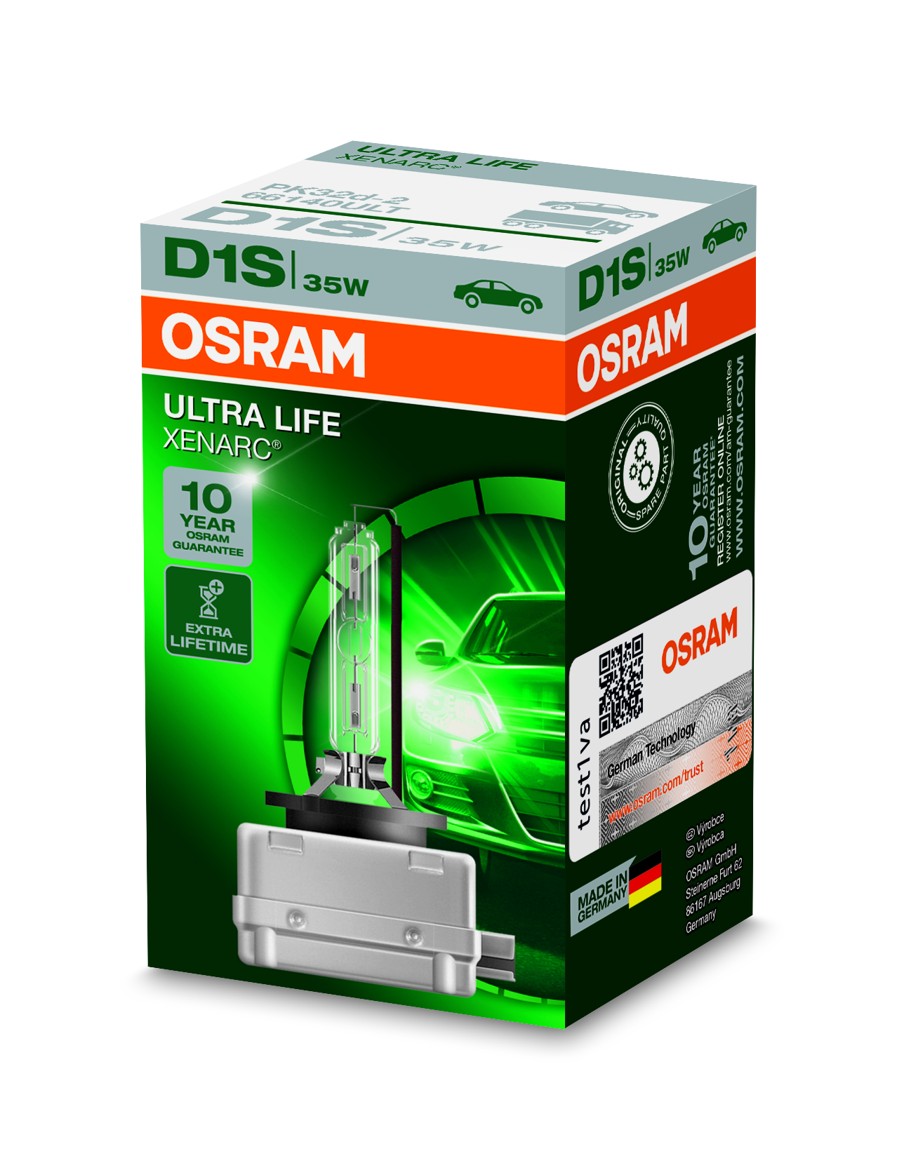 Osram Xenonová výbojka, XENARC ULTRALIFE, D1S, PK32d-2, 12/24V, 35W, 66140ULT