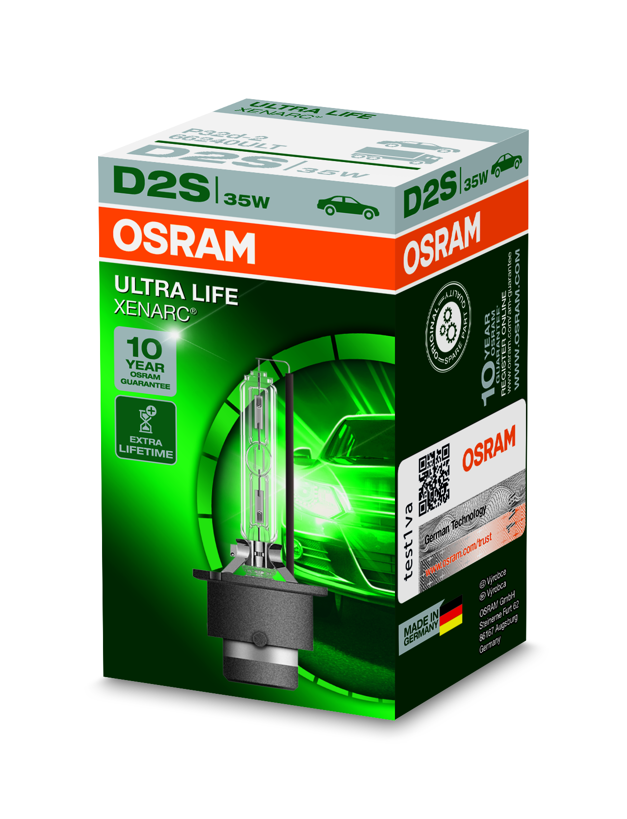 Osram Xenonová výbojka, XENARC ULTRALIFE, D2S, P32d-2, 12/24V, 35W, 66240ULT