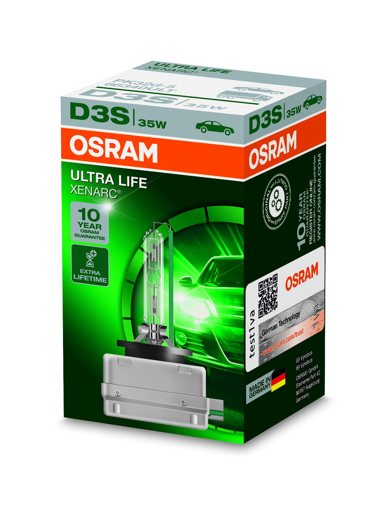 Osram Xenonová výbojka, XENARC ULTRALIFE, D3S, PK32d-5, 12/24V, 35W, 66240ULT