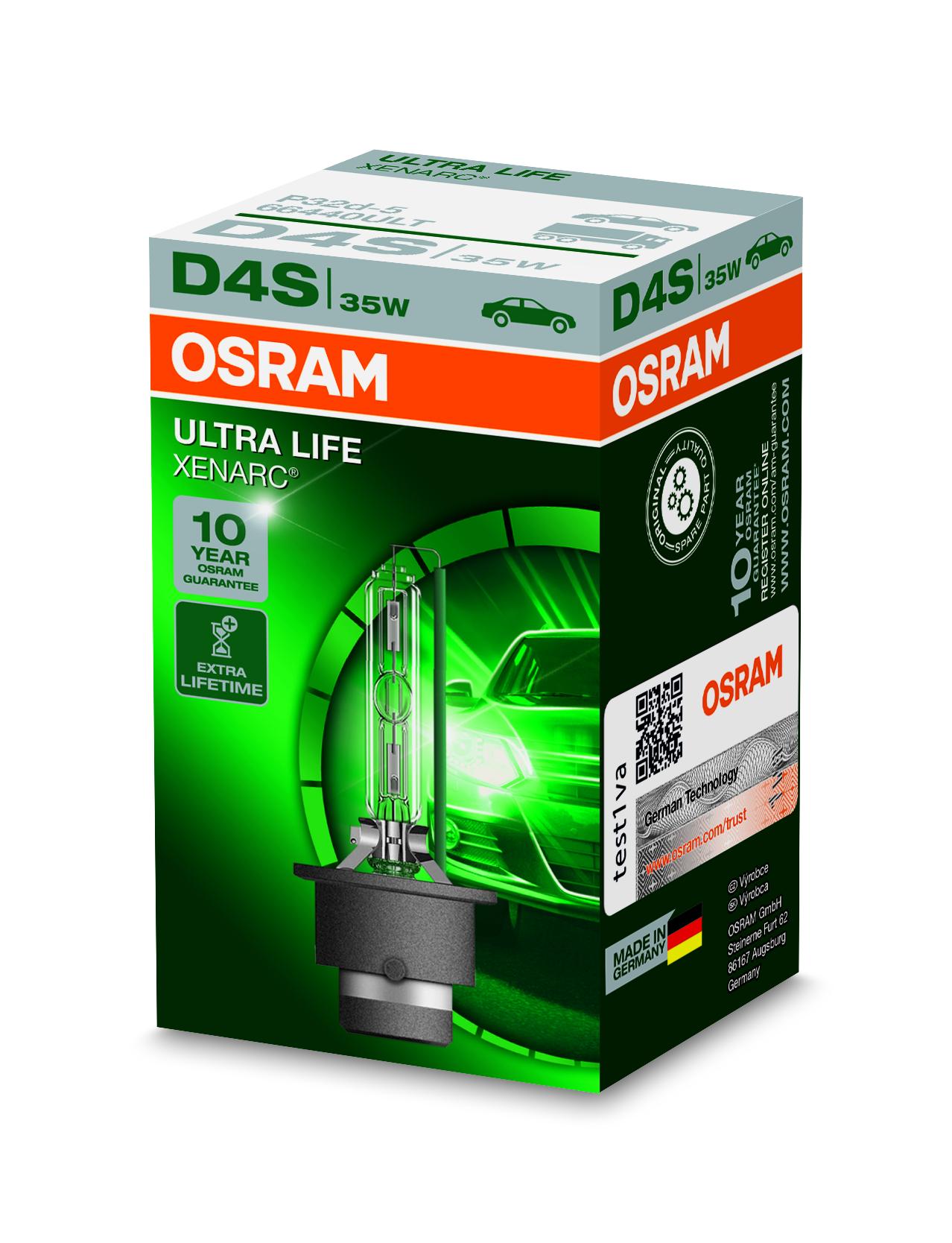 Osram Xenonová výbojka, XENARC ULTRALIFE, D4S, P32d-5, 12/24V, 35W, 66440ULT