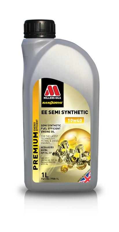 Motorový olej MILLERS OILS NANODRIVE EE Semi Synthetic 10w40 – 1 l