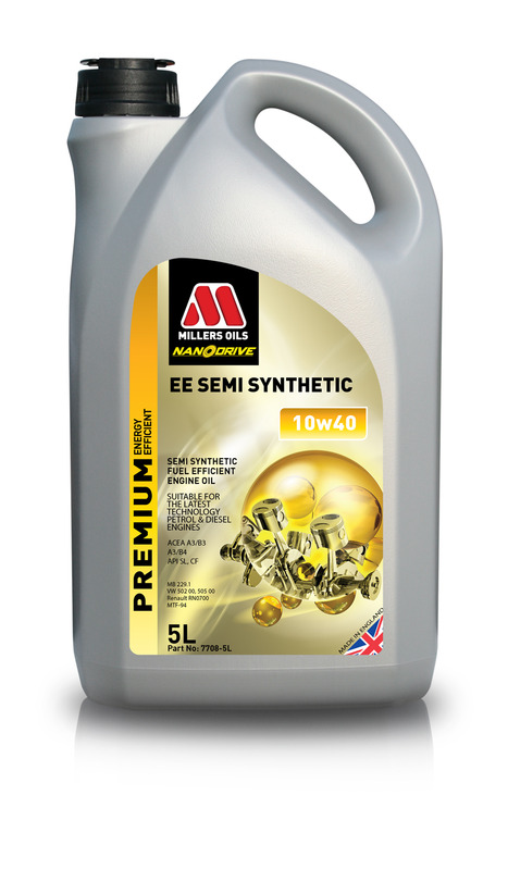 Motorový olej MILLERS OILS NANODRIVE EE Semi Synthetic 10w40 – 5 l