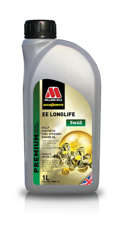 Motorový olej MILLERS OILS NANODRIVE EE Longlife 5w40 – 1 l