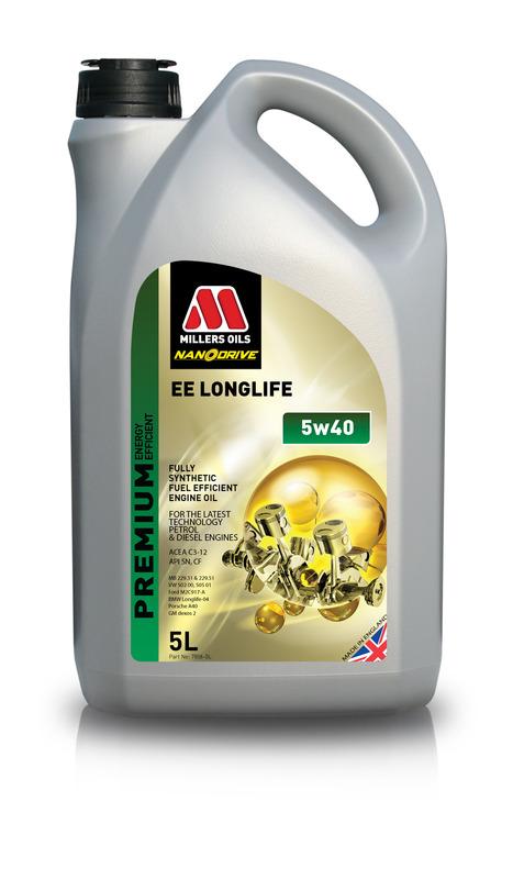 Motorový olej MILLERS OILS NANODRIVE EE Longlife 5w40 – 5 l