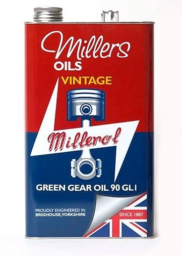 Převodový olej MILLERS OILS Vintage Green Gear Oil 90 GL1, SAE 90 – 5 l