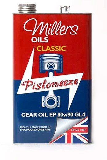 Převodový olej MILLERS OILS Classic Gear Oil EP 80w90 GL4 – 5 l