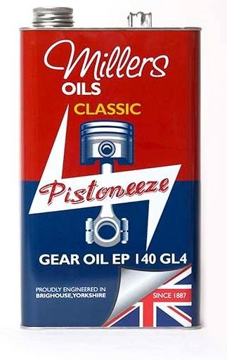 Převodový olej MILLERS OILS Classic Gear Oil EP 140 GL4, SAE 140 - 1 l