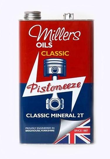 Motorový olej MILLERS OILS Classic Mineral 2T, SAE 40 - 1 l