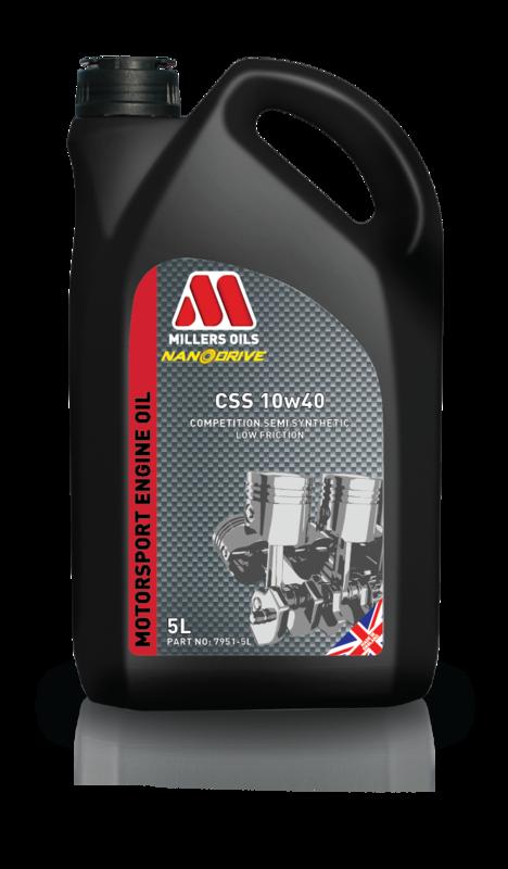 Motorový olej MILLERS OILS CSS 10w40, 5 l (Polosyntetický motorový olej pro sportovní použití )