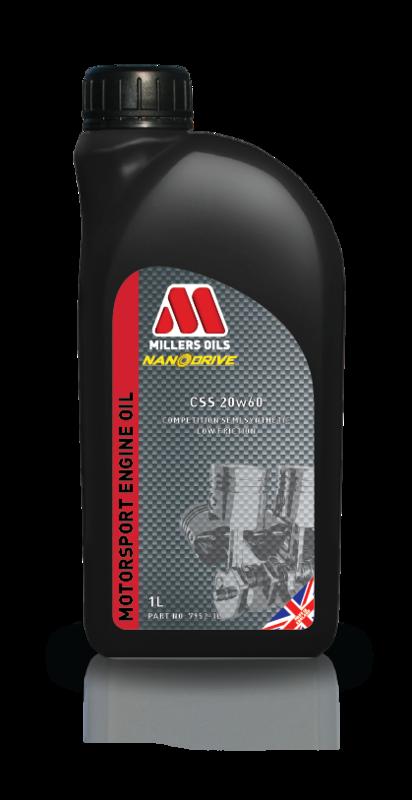 Motorový olej MILLERS OILS CSS 20w60, 1 l (Polosyntetický motorový olej, ideální pro sportovní a závodní youngtimery )