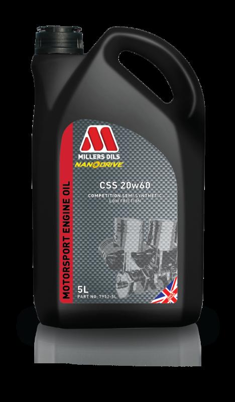 Motorový olej MILLERS OILS CSS 20w60, 5 l (Polosyntetický motorový olej, ideální pro sportovní a závodní youngtimery )