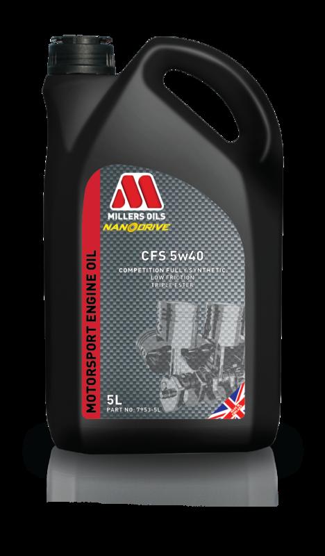 Motorový olej MILLERS OILS CFS 5w40, 5 l (Plně syntetický motorový olej, základové oleje PAO a 3estery – přesahuje kritéria norem API SL/CF a ACEA A3/B4)