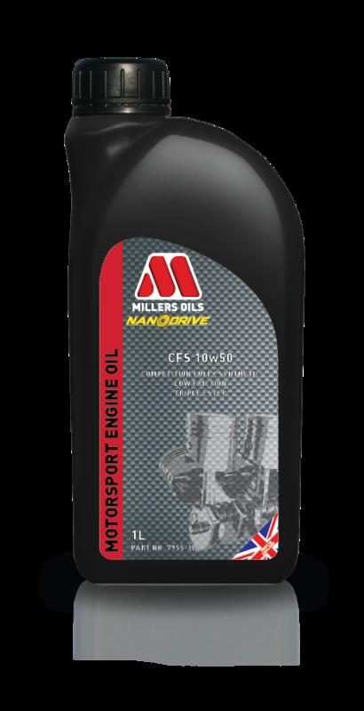 Motorový olej MILLERS OILS CFS 10w50, 1 l (Plně syntetický motorový olej, základové oleje PAO a 3estery, ZDDP - přesahuje kritéria norem API SL/CF a ACEA A3/B4)