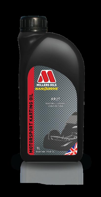 Motorový olej MILLERS OILS KR 2T, 1 l (SAE 40 - olej pro závodní motokáry)