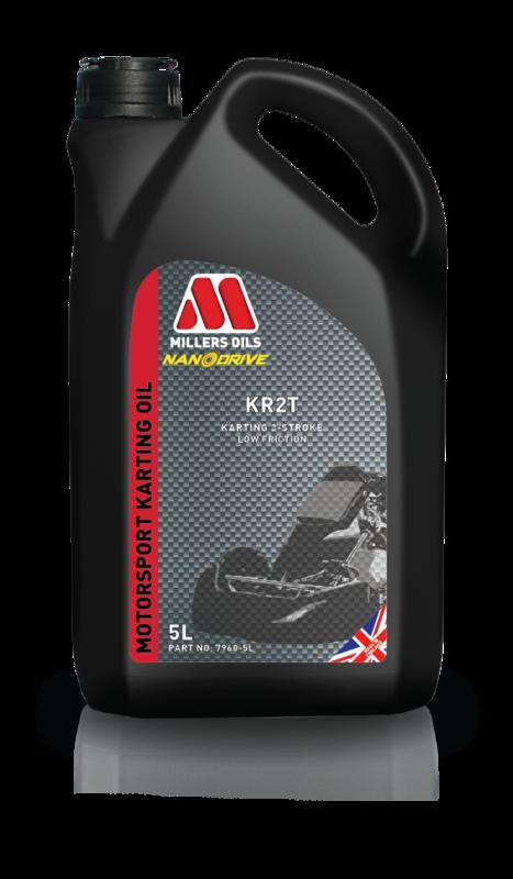 Motorový olej MILLERS OILS KR 2T, 5 l (SAE 40 - olej pro závodní motokáry)