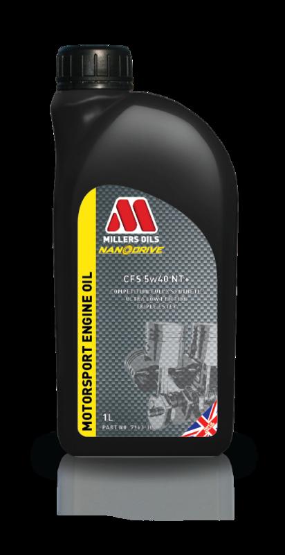 Motorový olej MILLERS OILS NANODRIVE CFS 5w40 NT+, 1 l (Plně syntetický motorový olej, základové oleje PAO a 3estery, ZDDP – přesahuje kritéria norem API SM, CF a ACEA A3/B4)