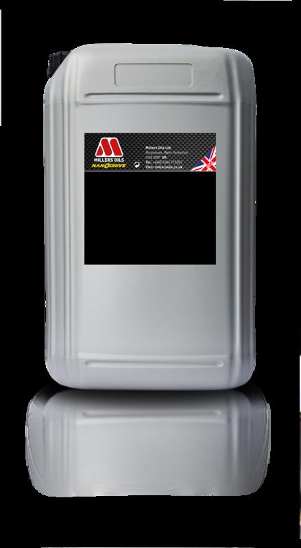 Motorový olej MILLERS OILS NANODRIVE CFS 5w40 NT+, 25 l (Plně syntetický motorový olej, základové oleje PAO a 3estery, ZDDP – přesahuje kritéria norem API SM, CF a ACEA A3/B4)