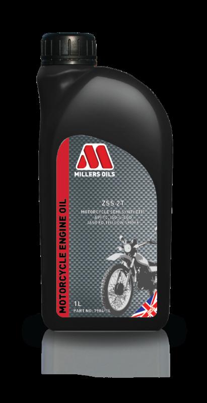Motorový olej MILLERS OILS ZSS 2T, 1 l (SAE 20 - polosyntetický olej pro 2-taktní motory - API TC, JASO FC, ISO/I/EGD, TISI Low Smoke)