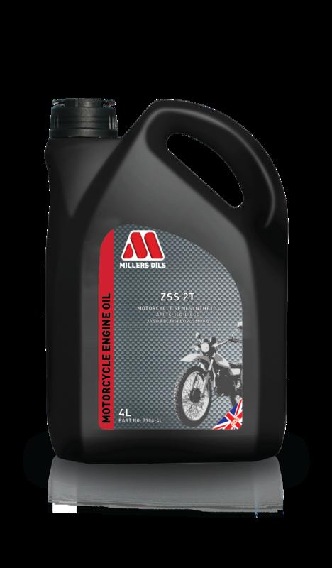 Motorový olej MILLERS OILS ZSS 2T, 4 l (SAE 20 - polosyntetický olej pro 2-taktní motory - API TC, JASO FC, ISO/I/EGD, TISI Low Smoke)