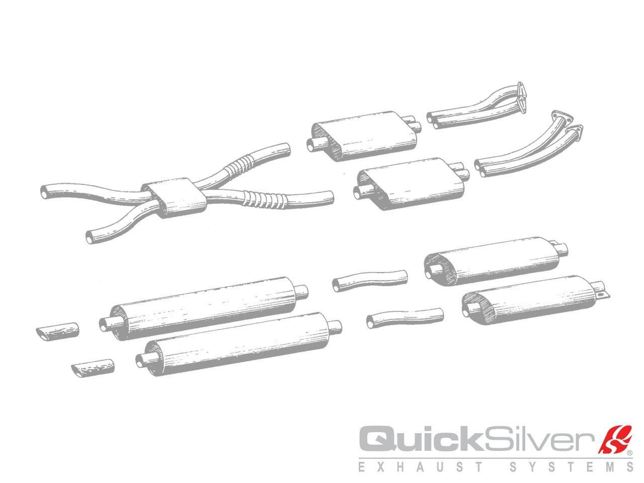 QuickSilver Exhausts Heritage | Aston Martin DBS - V8, 1969-72, AS009 (Výfukový systém – nerezová ocel)