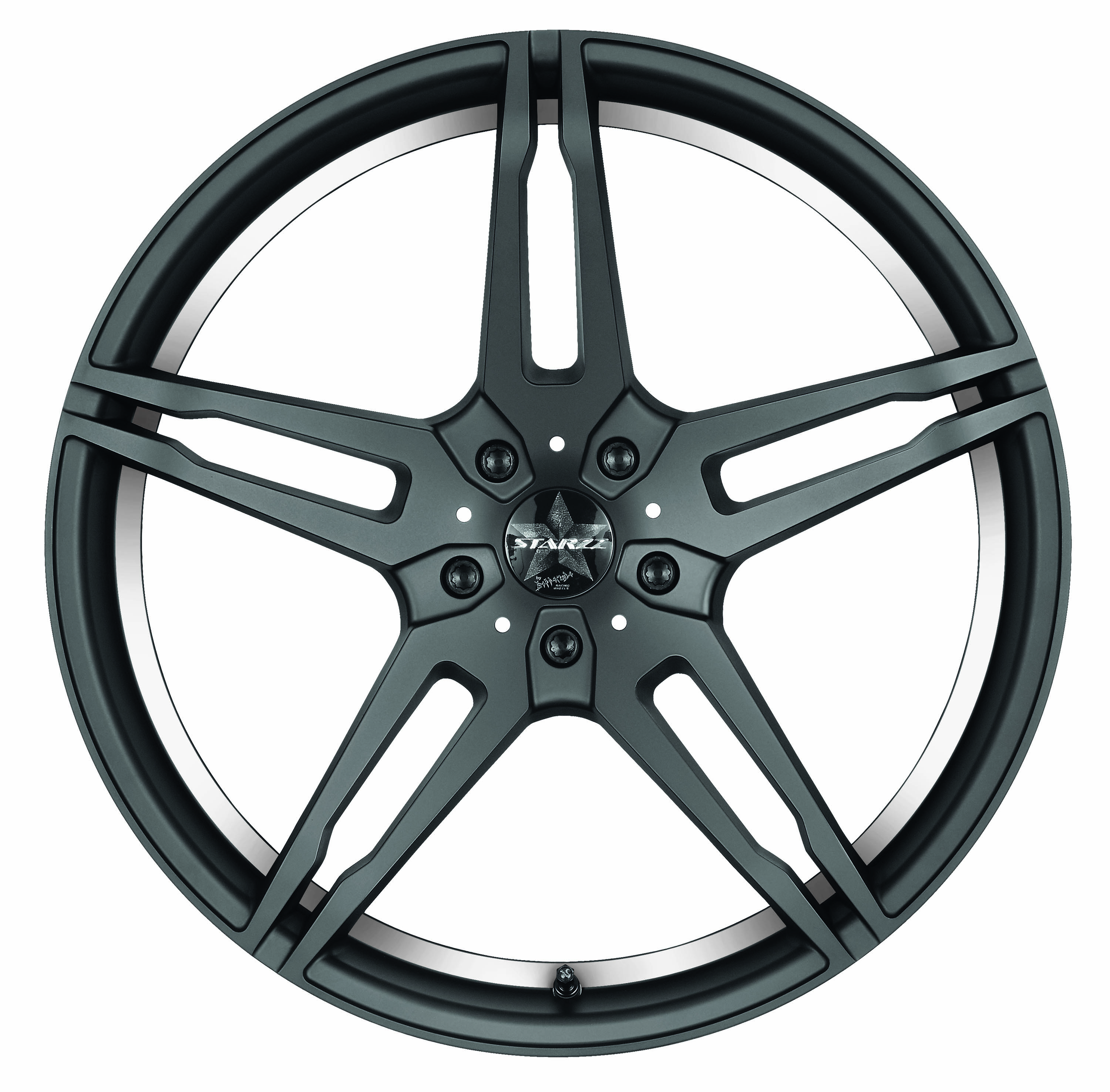 BARRACUDA STARZZ Mattblack-polished / undercut Color Trim weiss - 8,5x19 / 5x112 / ET40, RTSTA85945R/MB-P/900322028