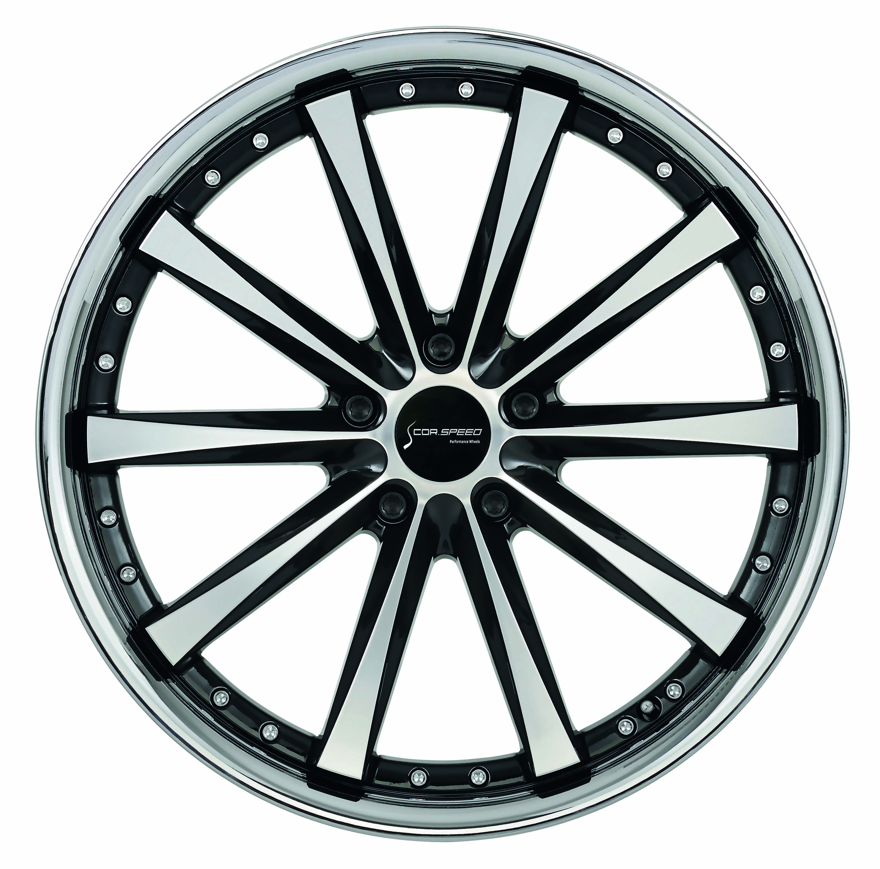 CORSPEED ARROWS Higloss black polished inox lip - 10x20 / 5x112 / ET38, RCARR10048R/GB-P_I22028