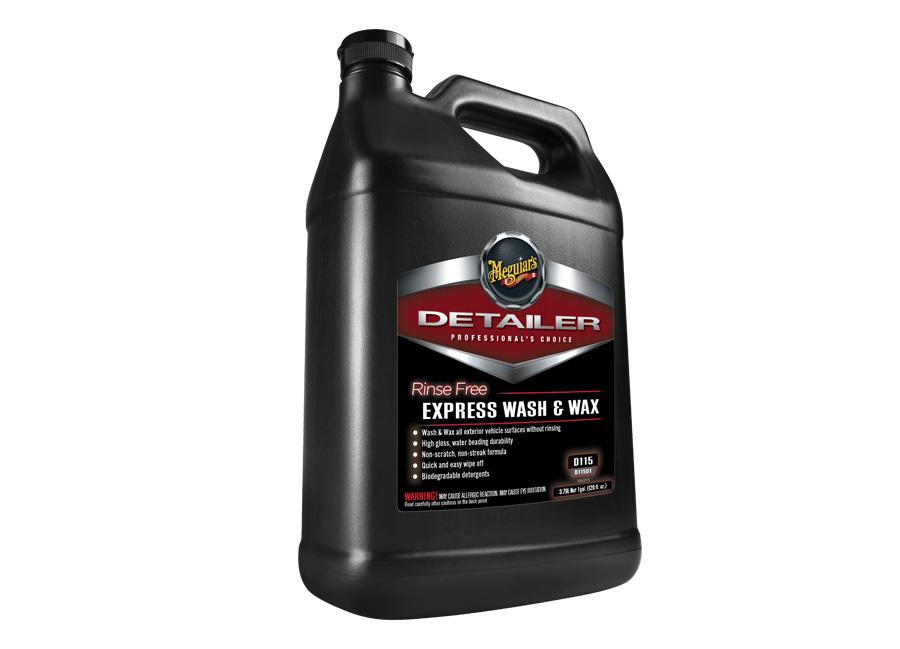 Meguiar's Rinse Free Express Wash & Wax, 3,78 l – speciální profesionální přípravek pro mytí bez vody, s voskem na bázi syntetických polymerů (Hýčkejte si i Vy svůj vůz špičkovou kvalitní autokosmetikou od Meguiar's - jedničky amerického trhu!)
