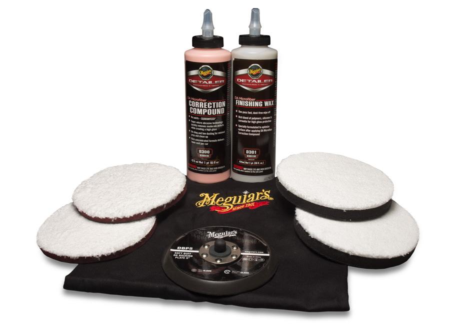 """Meguiar's DA Microfiber Correction System Kit 5"""" – oblíbená kompletní 5palcová sada mikrovláknového systému na profesionální renovaci laku (Hýčkejte si i Vy svůj vůz špičkovou kvalitní autokosmetikou od Meguiar's - jedničky amerického trhu!)"""