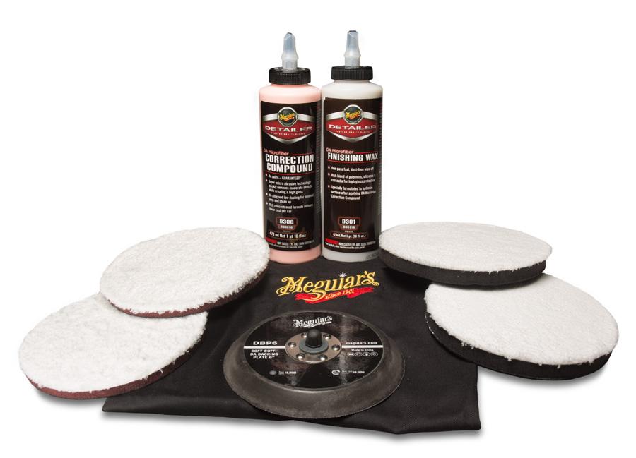 """Meguiar's DA Microfiber Correction System Kit 6"""" – oblíbená kompletní 6palcová sada mikrovláknového systému na profesionální renovaci laku (Hýčkejte si i Vy svůj vůz špičkovou kvalitní autokosmetikou od Meguiar's - jedničky amerického trhu!)"""