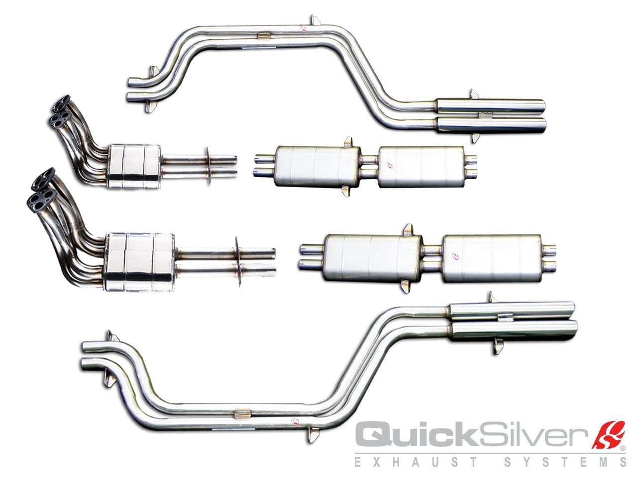 QuickSilver Exhausts Heritage | Ferrari 275 GTB/4, 1966-68, FE013 (Výfukový systém – nerezová ocel)