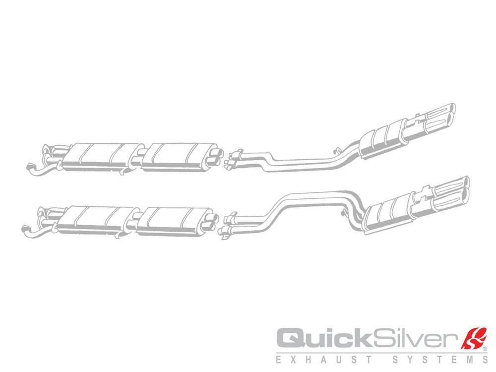 QuickSilver Exhausts Heritage | Ferrari 365 GTC/4, 1971-72, FE016 (Výfukový systém – nerezová ocel)