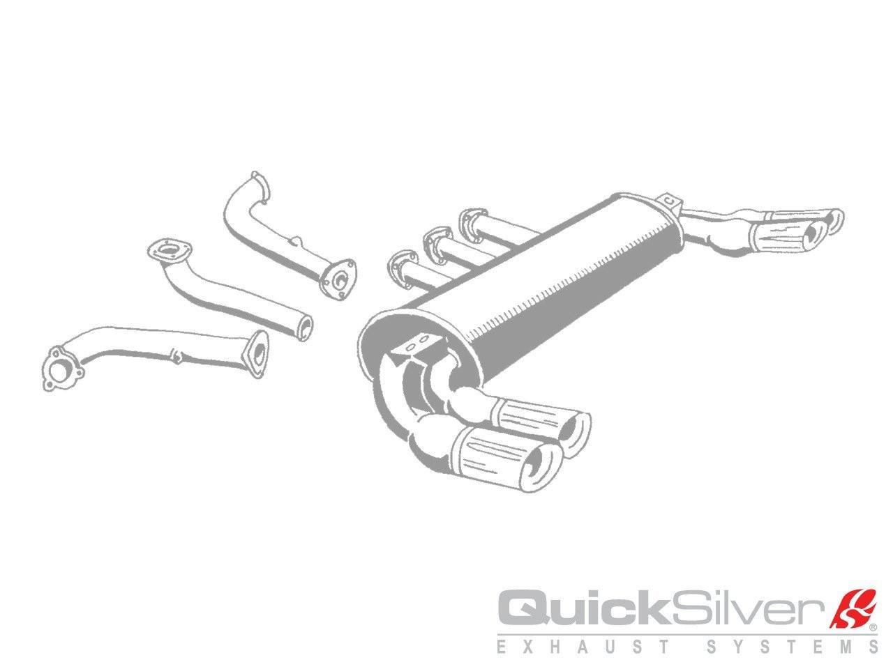 QuickSilver Exhausts Heritage | Ferrari 288 GTO, 1984-86, FE054 (Výfukový systém – nerezová ocel)