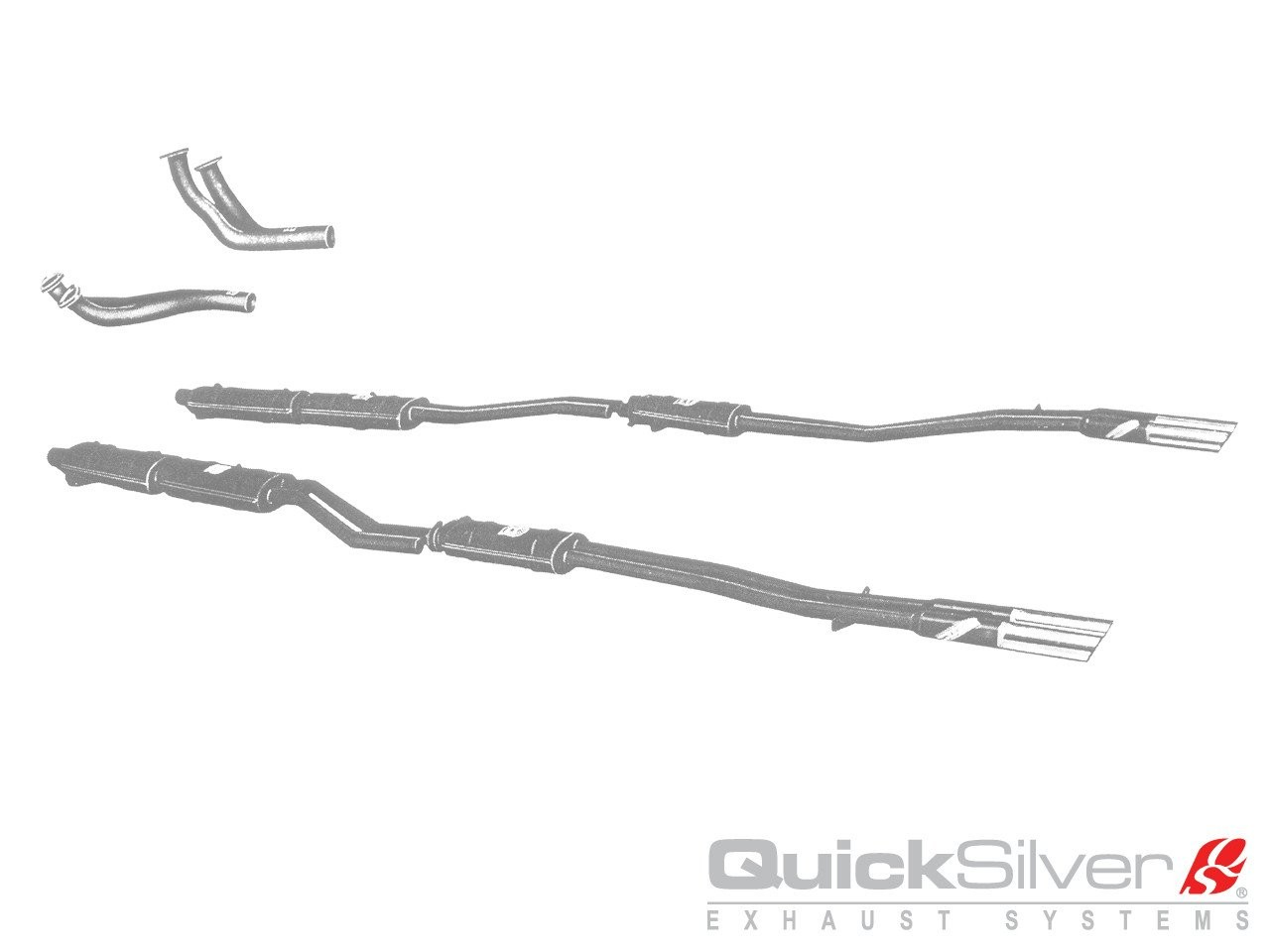 QuickSilver Exhausts Heritage | Ferrari 330 America, 1964-65, FE063 (Výfukový systém – nerezová ocel)