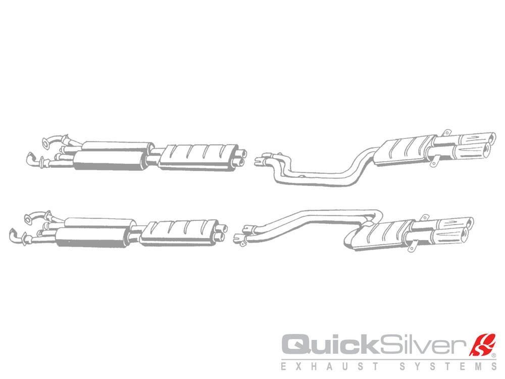 QuickSilver Exhausts Heritage | Ferrari 365 GTB/4 Daytona S2, 1970-73, FE514 (Výfukový systém – nerezová ocel)