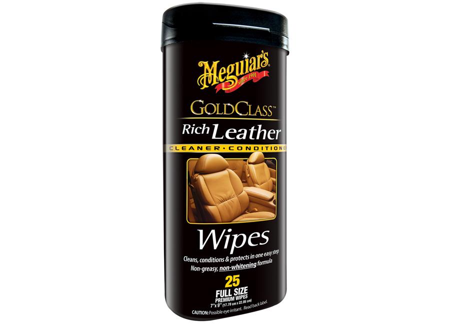 Meguiar's Gold Class Rich Leather Wipes – speciální ubrousky 25ks (Hýčkejte si i Vy svůj vůz špičkovou kvalitní autokosmetikou od Meguiar's - jedničky amerického trhu!)