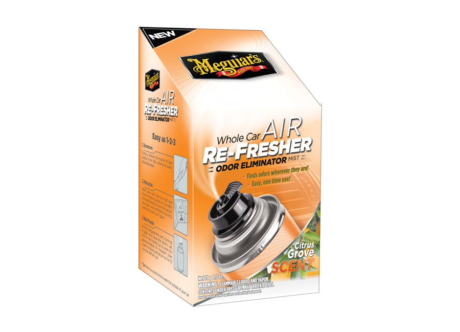 Meguiar's Air Re-Fresher Odor Eliminator - Citrus Grove Scent – účinná desinfekce klimatizace + pohlcovač pachů + osvěžovač vzduchu, vůně citrusů, 71 g (Hýčkejte si i Vy svůj vůz špičkovou kvalitní autokosmetikou od Meguiar's - jedničky amerického trhu!)