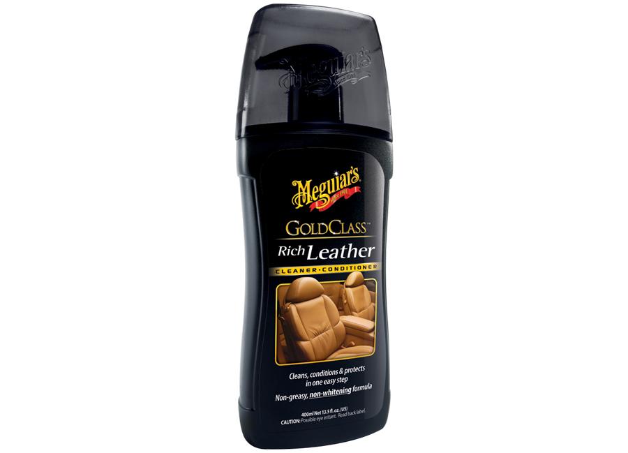 Meguiar's Gold Class Rich Leather Cleaner/Conditioner – účinný čistič a kondicionér na kůži, 400 ml (Hýčkejte si i Vy svůj vůz špičkovou kvalitní autokosmetikou od Meguiar's - jedničky amerického trhu!)