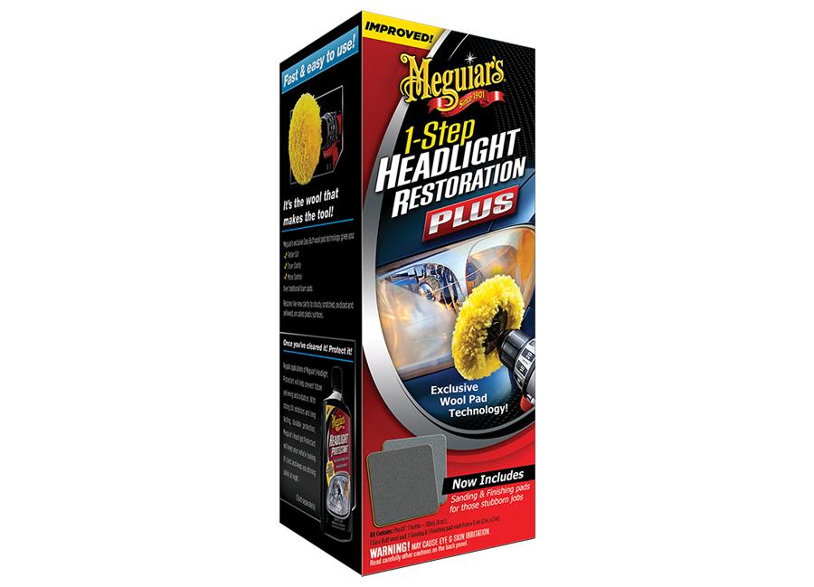 Meguiar's 1-Step Headlight Restoration Plus – perfektní sada na oživení světlometů (Hýčkejte si i Vy svůj vůz špičkovou kvalitní autokosmetikou od Meguiar's - jedničky amerického trhu!)