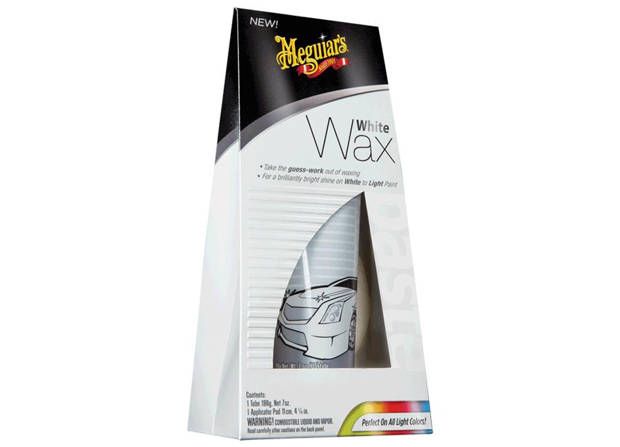 Meguiar's White (Light) Wax – unikátní leštěnka s voskem pro bílé a světlé laky, 198 g (Hýčkejte si i Vy svůj vůz špičkovou kvalitní autokosmetikou od Meguiar's - jedničky amerického trhu!)