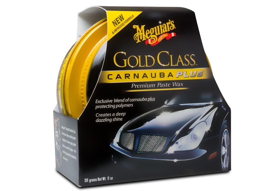 Meguiar's Gold Class Carnauba Plus Premium Paste Wax – oblíbený tuhý vosk s obsahem přírodní karnauby, 311 g (Hýčkejte si i Vy svůj vůz špičkovou kvalitní autokosmetikou od Meguiar's - jedničky amerického trhu!)