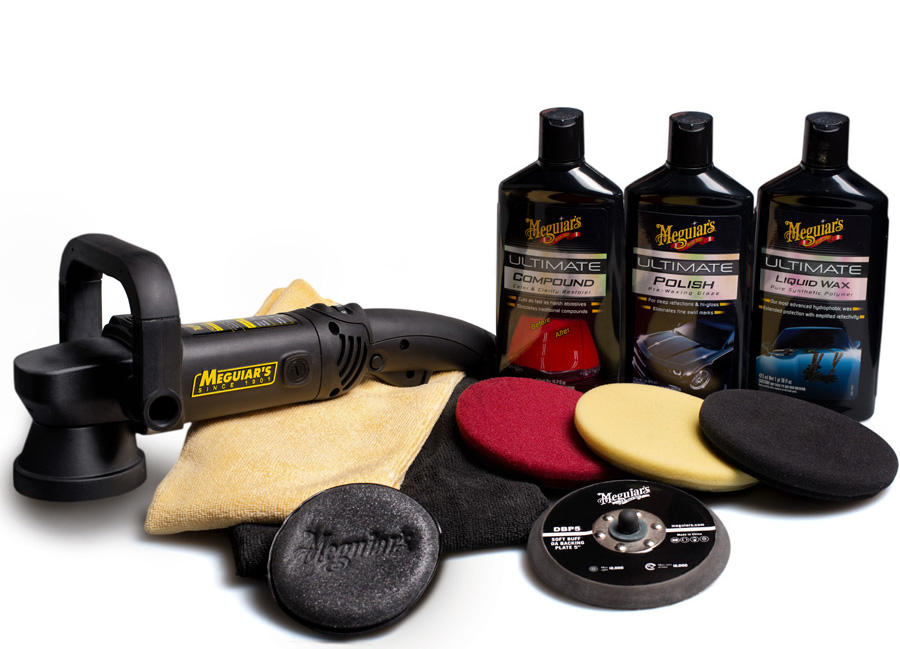 """Meguiar's DA Ultimate Kit 5"""" - kompletní 5palcová sada nejvyšší produktové řady pro strojní renovaci, leštění a voskování laku (Hýčkejte si i Vy svůj vůz špičkovou kvalitní autokosmetikou od Meguiar's - jedničky amerického trhu!)"""