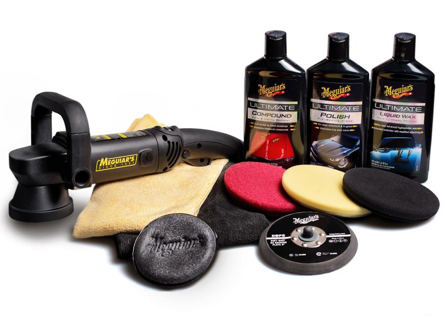 """Meguiar's DA Ultimate Kit 6"""" - kompletní 6palcová sada nejvyšší produktové řady pro strojní renovaci, leštění a voskování laku (Hýčkejte si i Vy svůj vůz špičkovou kvalitní autokosmetikou od Meguiar's - jedničky amerického trhu!)"""