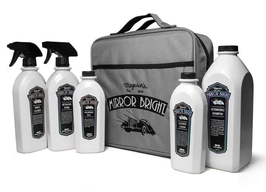 Meguiar's Mirror Bright Kit – kompletní sada autokosmetiky s taškou v designu Mirror Bright (Hýčkejte si i Vy svůj vůz špičkovou kvalitní autokosmetikou od Meguiar's - jedničky amerického trhu!)