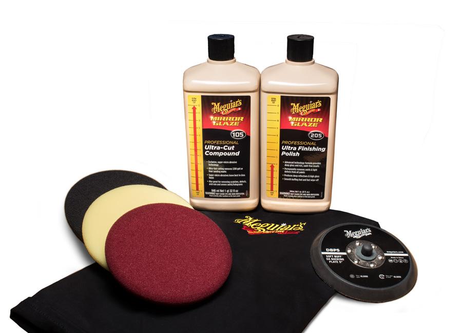 """Meguiar's Mirror Glaze Soft Buff Kit 5"""" – oblíbená kompletní 5palcová sada na profesionální renovaci laku (Hýčkejte si i Vy svůj vůz špičkovou kvalitní autokosmetikou od Meguiar's - jedničky amerického trhu!)"""