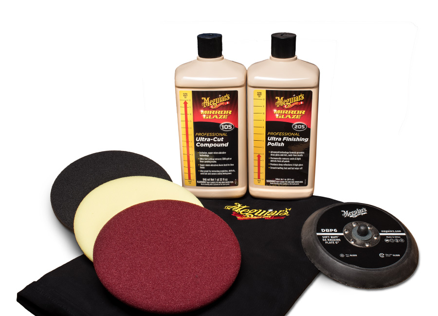 """Meguiar's Mirror Glaze Soft Buff Kit 6"""" – oblíbená kompletní 6palcová sada na profesionální renovaci laku (Hýčkejte si i Vy svůj vůz špičkovou kvalitní autokosmetikou od Meguiar's - jedničky amerického trhu!)"""