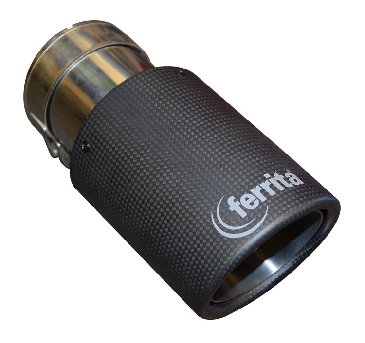 Ferrita karbonová koncovka výfuku Ø89mm, TPC002, TOP kvalita