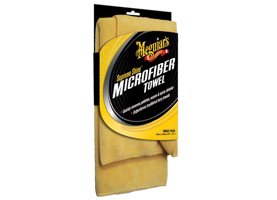 Meguiar's Supreme Shine Microfiber Towel – kvalitní mikrovláknová utěrka, 40 cm x 60 cm