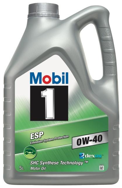Motorový olej Mobil 1 ESP 0W-40 - 5 l