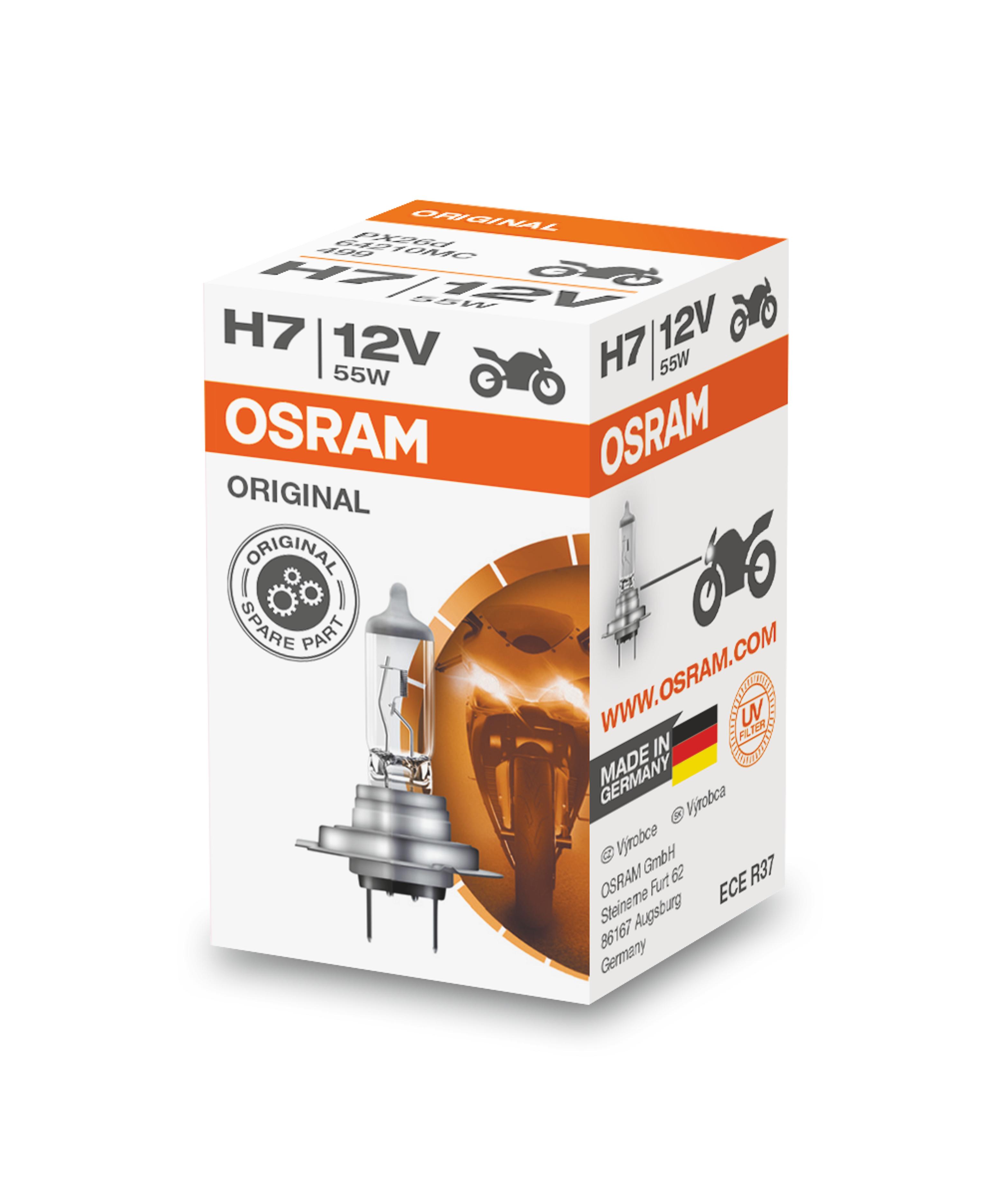 Osram halogenová žárovka, MOTO STANDARD, H7, PX26d, 12V, 55W, 64210MC